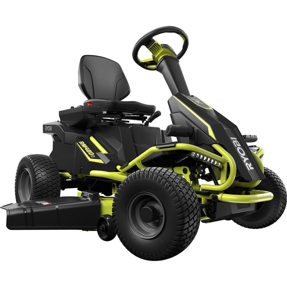 38 in 75 ah battery electric rear engine riding lawn mower