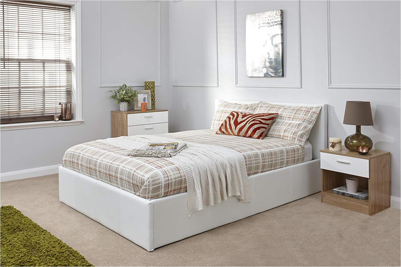 caspian ottoman gas lift up storage bed white 5ft kingsize amazon co uk kitchen home