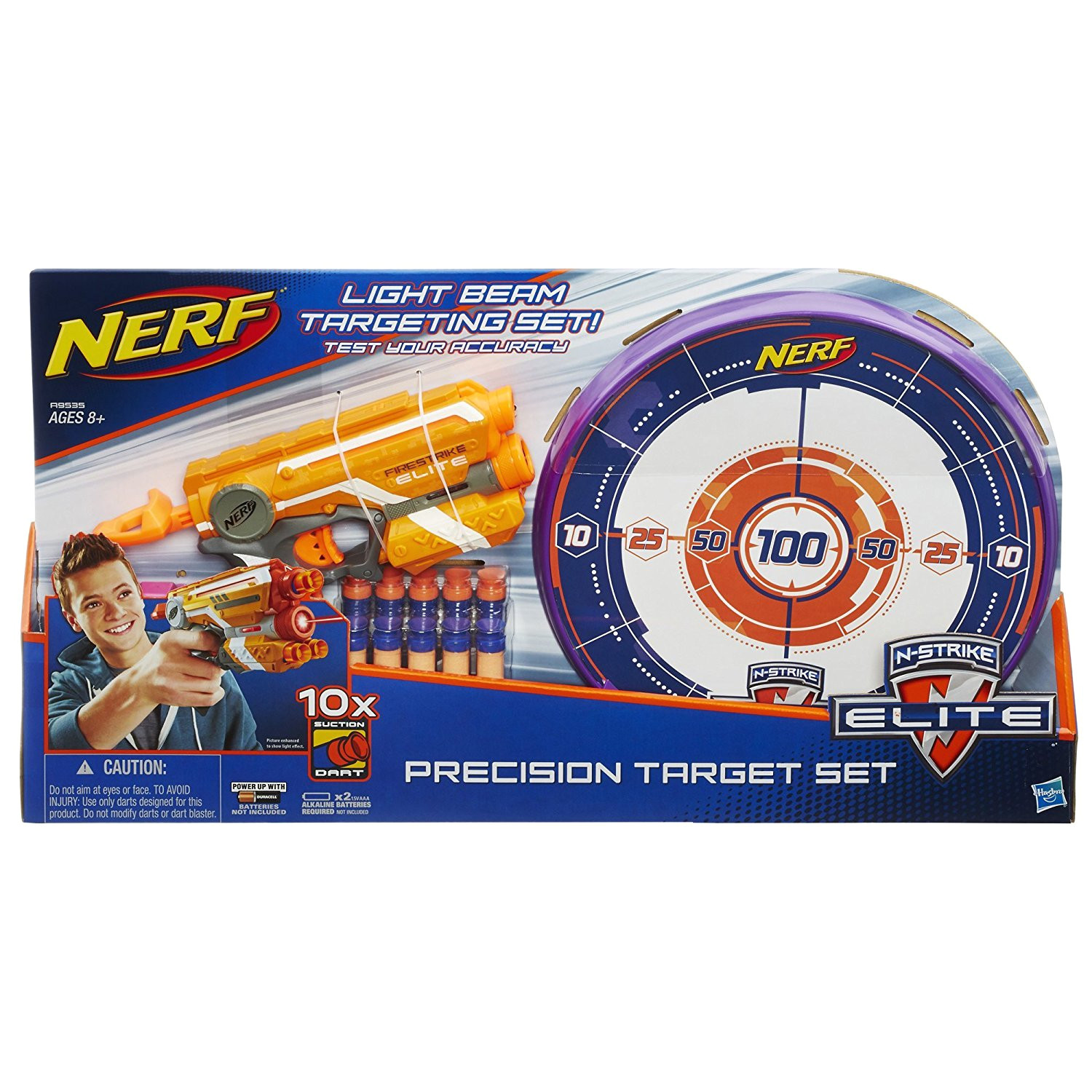 this will be a good gift for 8 years old boys who want to get some target practice in their spare time