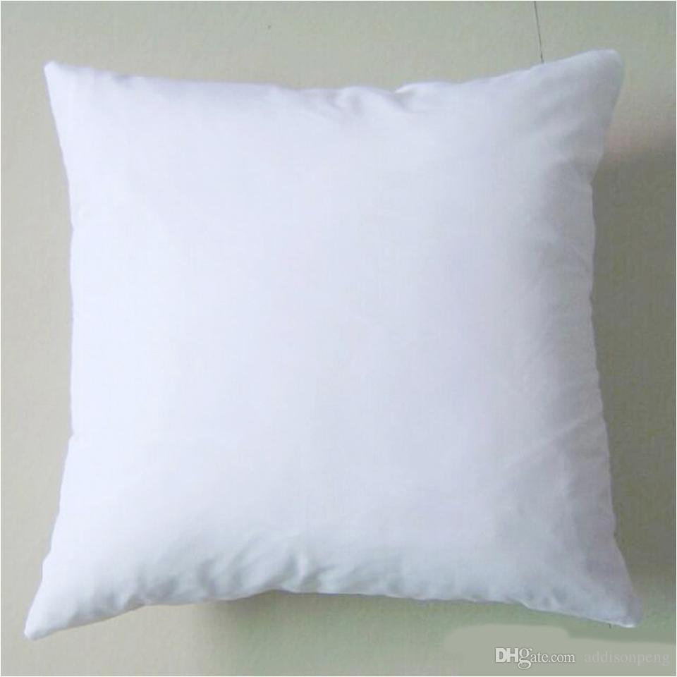 plain white diy blank sublimation pillow case poly pillow cover 150gsm fabric 40cm square white pillow case for diy print paint diy sublimation pillow case