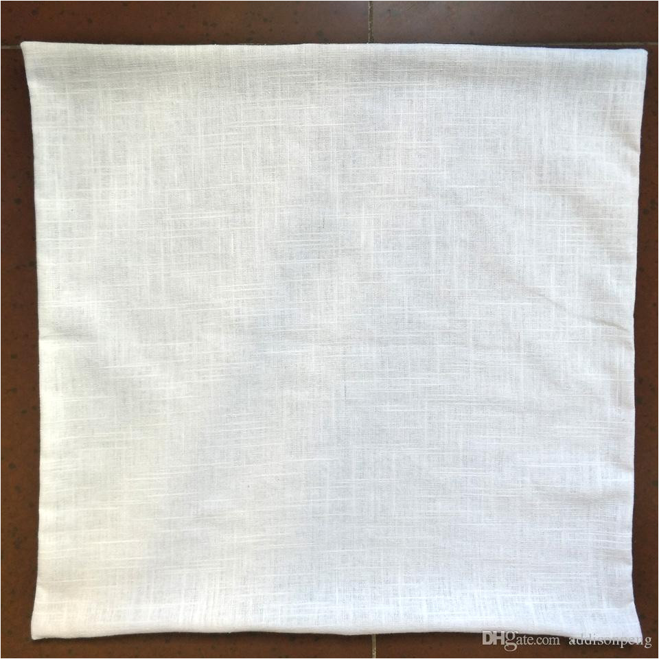 pure ramie plain ivory pillow case with hidden zip for diy paint print blank linen pillow cover free ship by dhl white ramie pillow case blank linen pillow