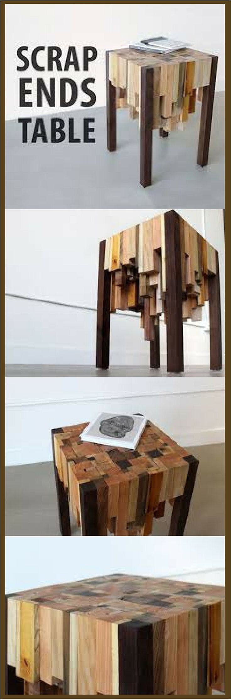 make a great little table with scrap ends waste not want not http