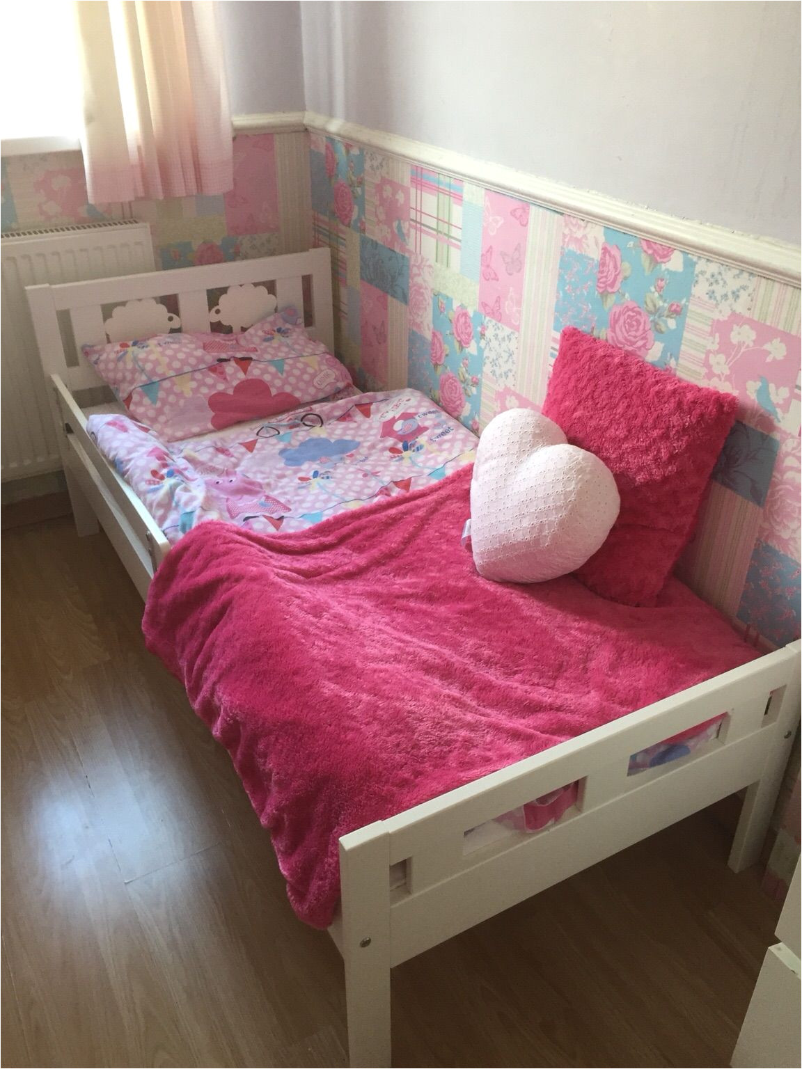 toddler bed with one side jpg