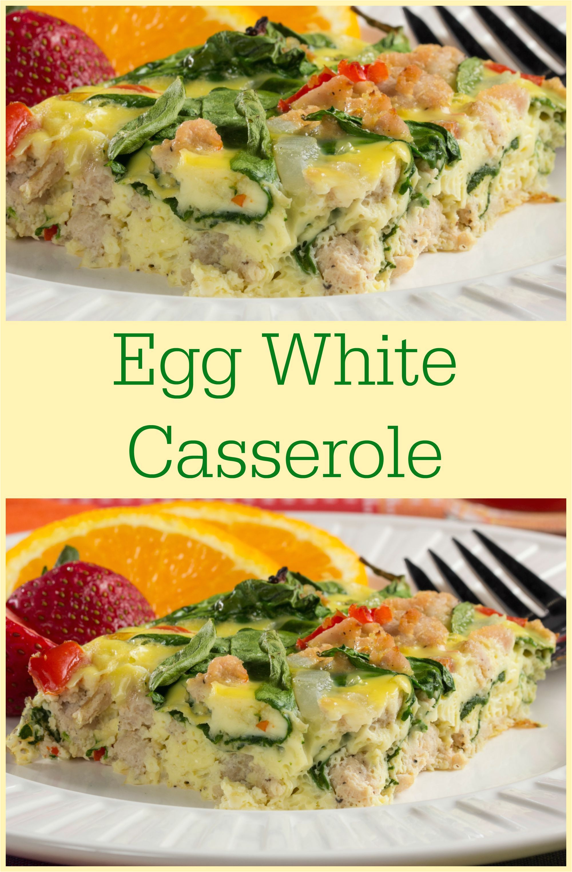 this easy egg white casserole is a great high protein low carb healthy breakfast to start your day off with you can even enjoy it as a brunch recipe