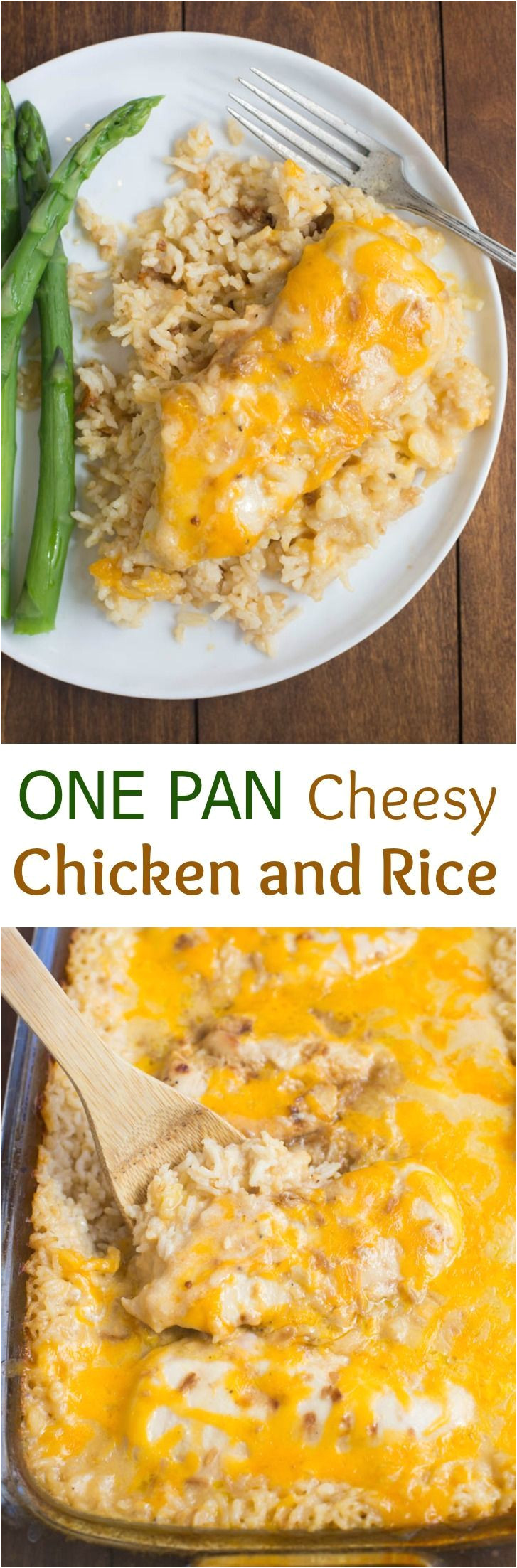 my family loves this easy one pan cheesy chicken and rice casserole just a few