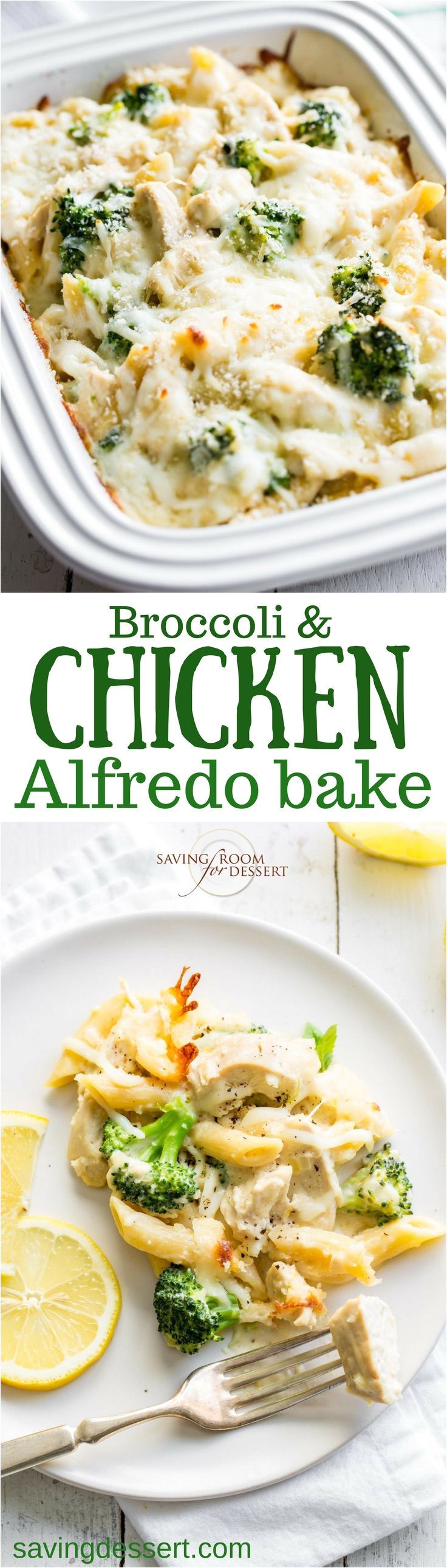 broccoli chicken alfredo bake