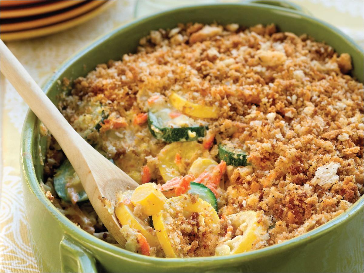 California Blend Vegetable Casserole Velveeta Summer Squash Casserole Recipe Myrecipes