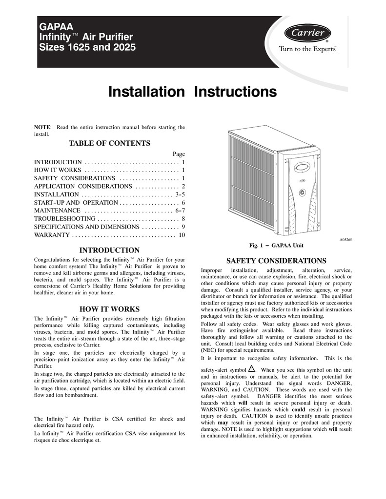 Diagram Carrier Infinity Control Thermostat Installation Manual