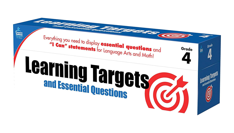 learning targets and essential questions grade 4 carson dellosa publishing 9781483825953 amazon com books