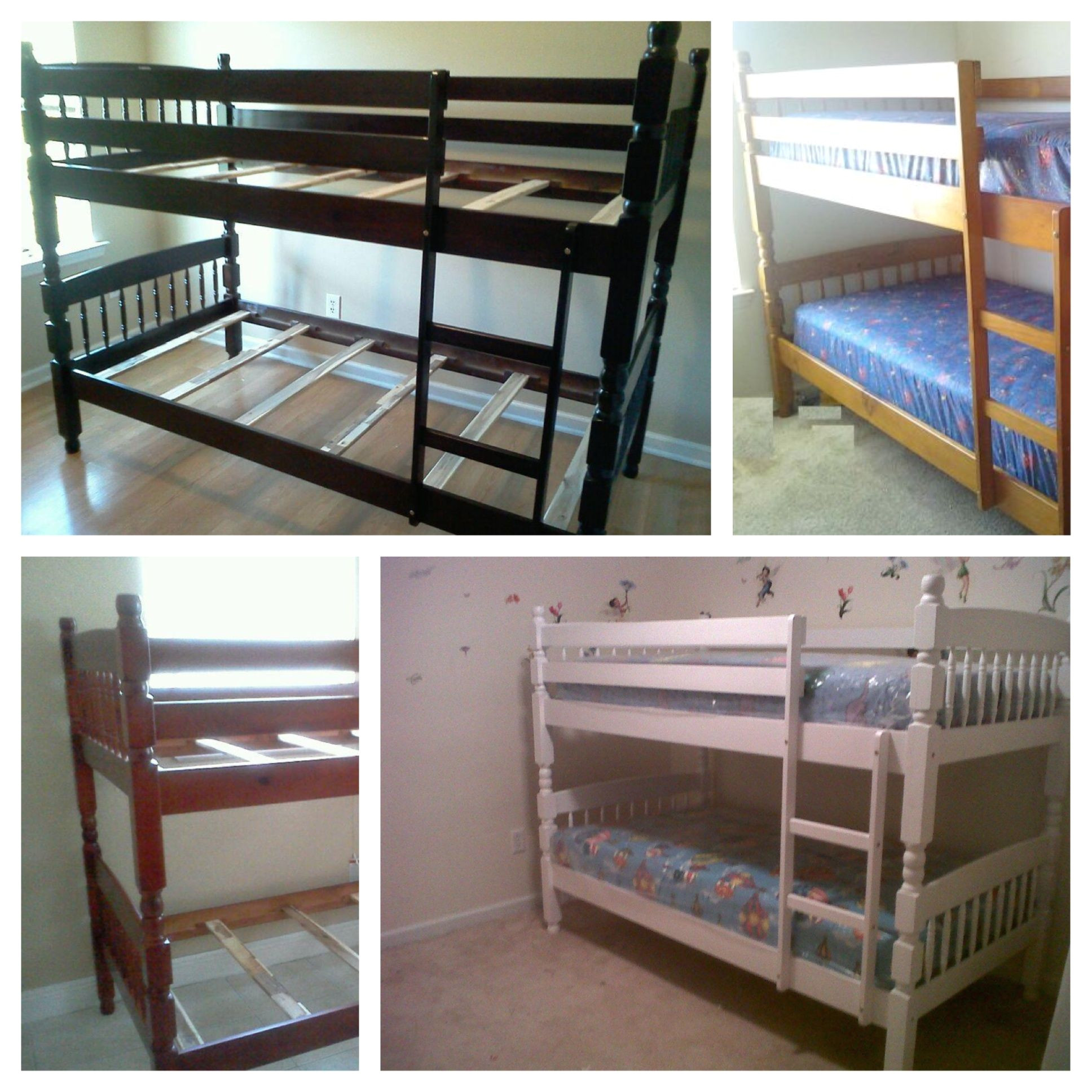 white twin twin all wood bunk bed set in mmidesigns garage sale in atlanta ga for 275