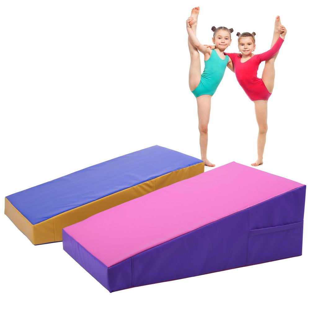 incline mat slope cheese gymnastics gym exercise aerobics tumbling fitness wedge