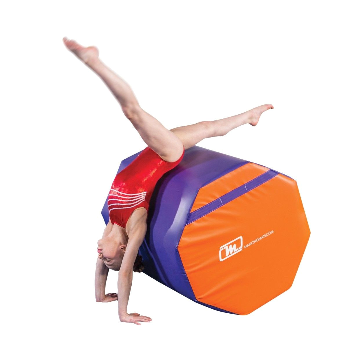 mancino s 30 x 36 purple and orange octagon mat is in stock and ready to ship perfect for any tumblers who need to practice at home to keep up and exceed