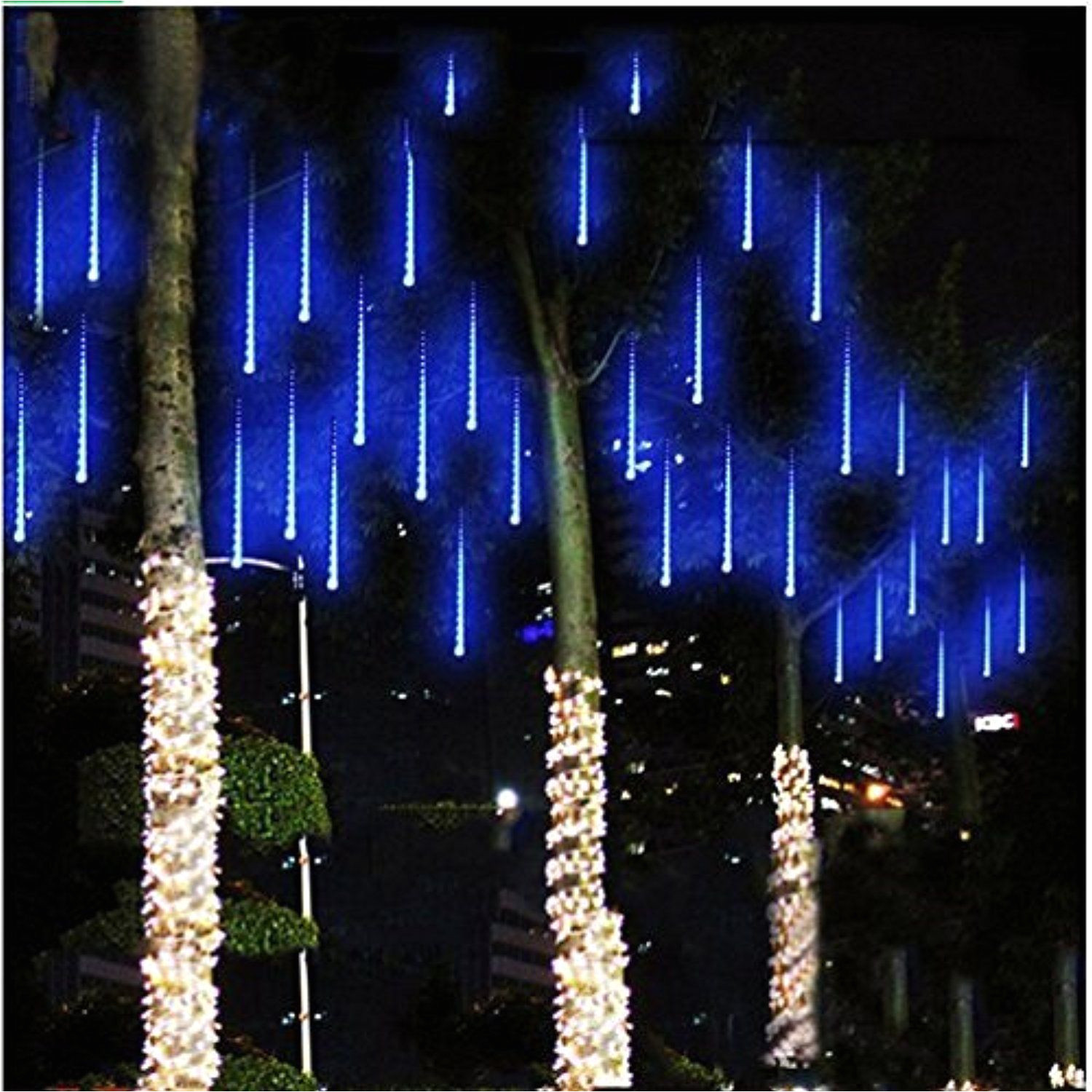 string lights paragala waterproof falling rain fairy lights with 50cm 240 led 8 tubes meteor shower rain led christmas lights for wedding party xmas tree