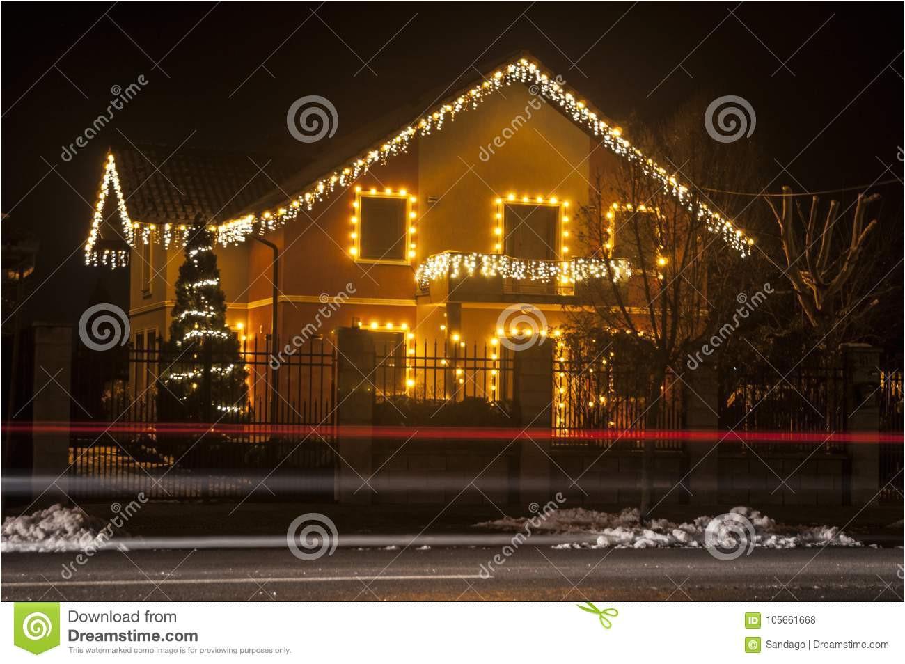 house with beautiful christmas lights