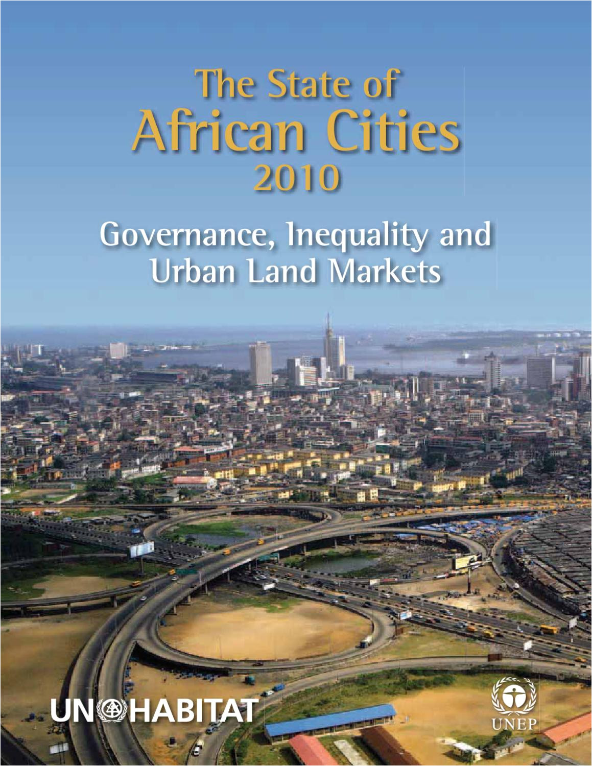 state of african cities 2010 governance inequalities and urban land markets by un habitat issuu