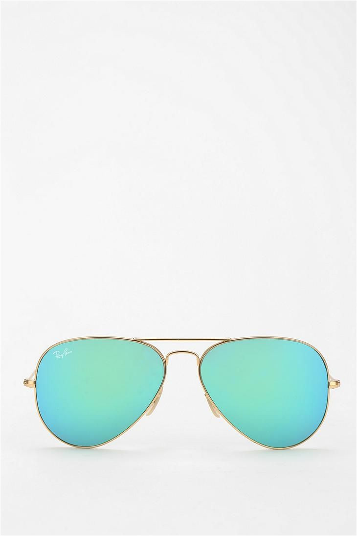 ray ban mirrored aviator sunglasses