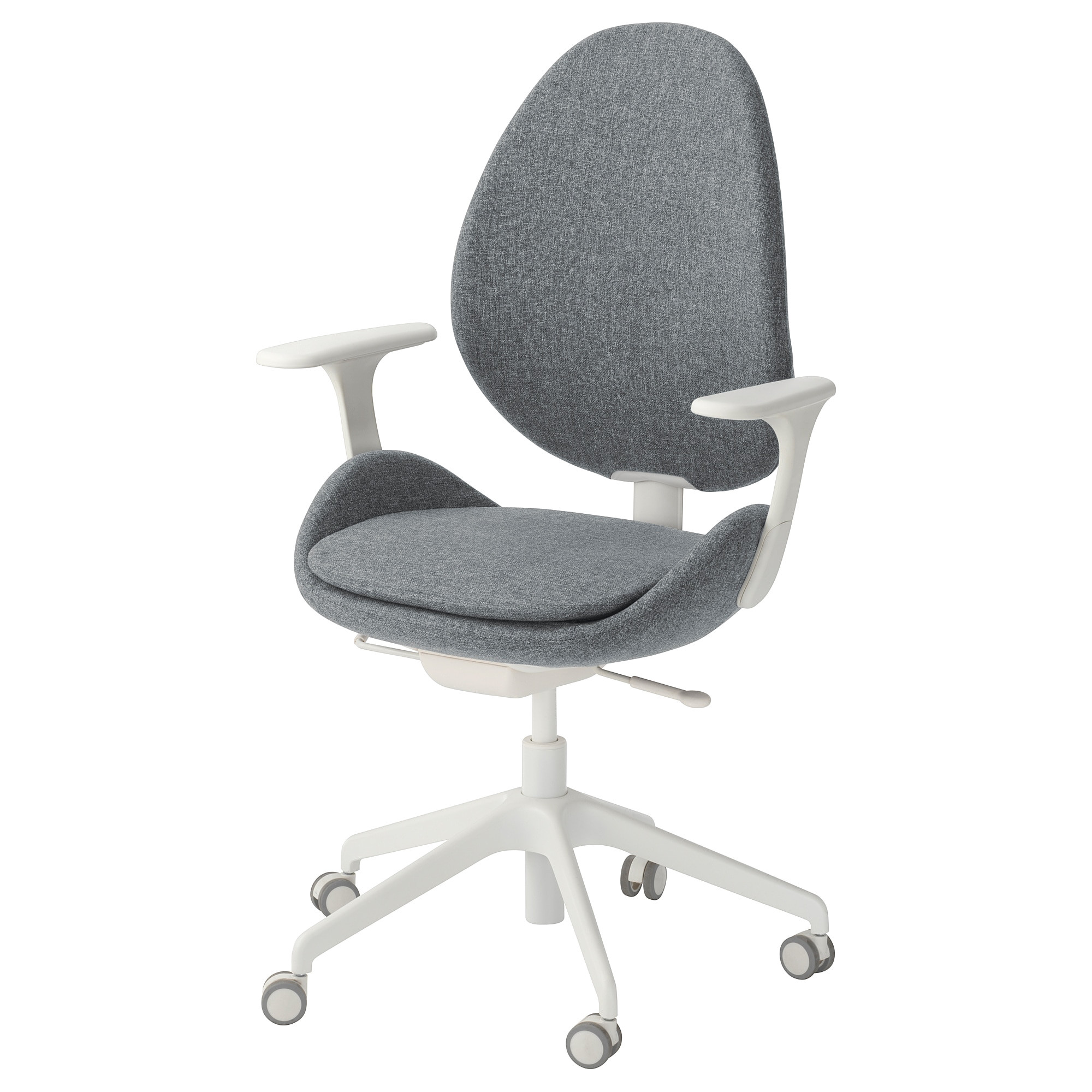 ikea hattefja ll swivel chair with armrests