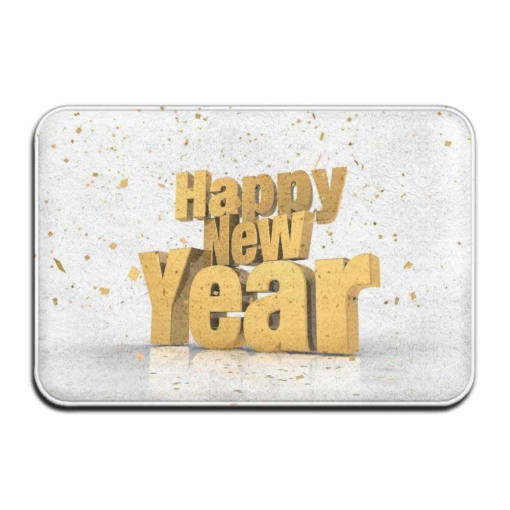 amazon com home door mat happy new year doormat door mats entrance rugs anti slip 4060 for indoor outdoor garden outdoor