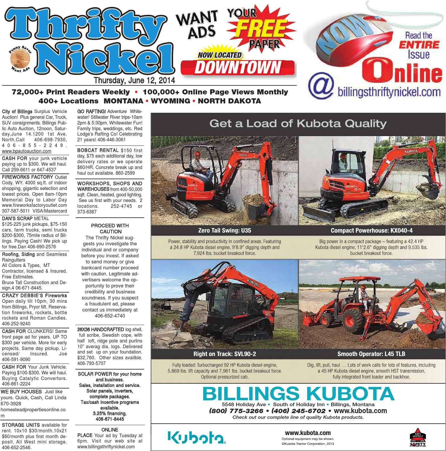 Commercial Roofing Contractors Billings Mt Thrifty Nickel June 12 by Billings Gazette issuu