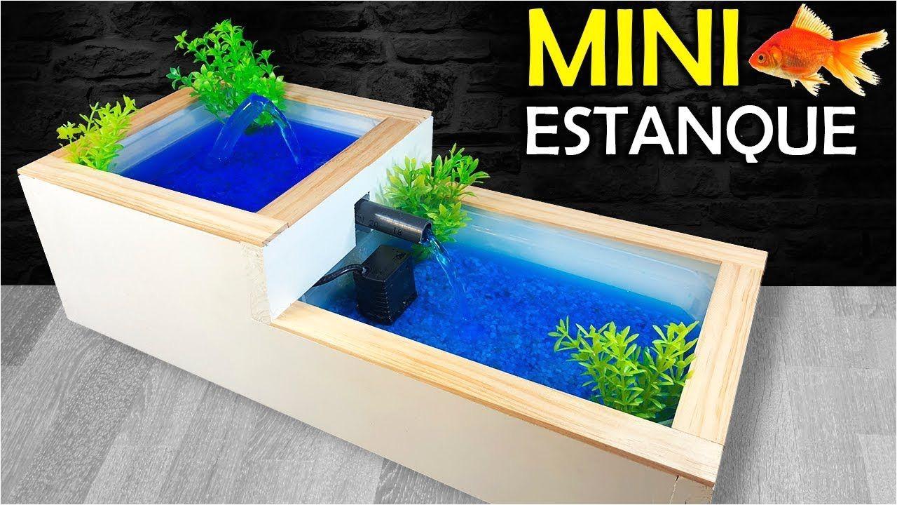 como hacer un mini estanque casero o fuente de agua casera