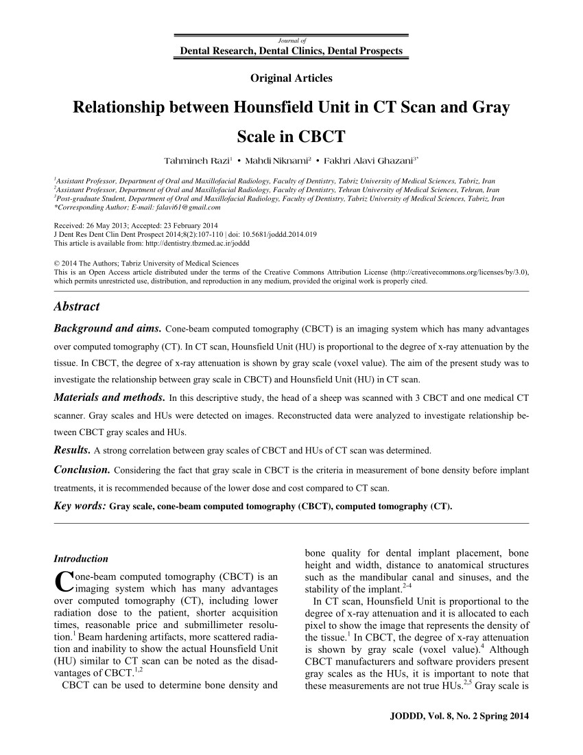 pdf evaluation of the gray level of restorative materials using cone beam computed tomography a cross sectional study