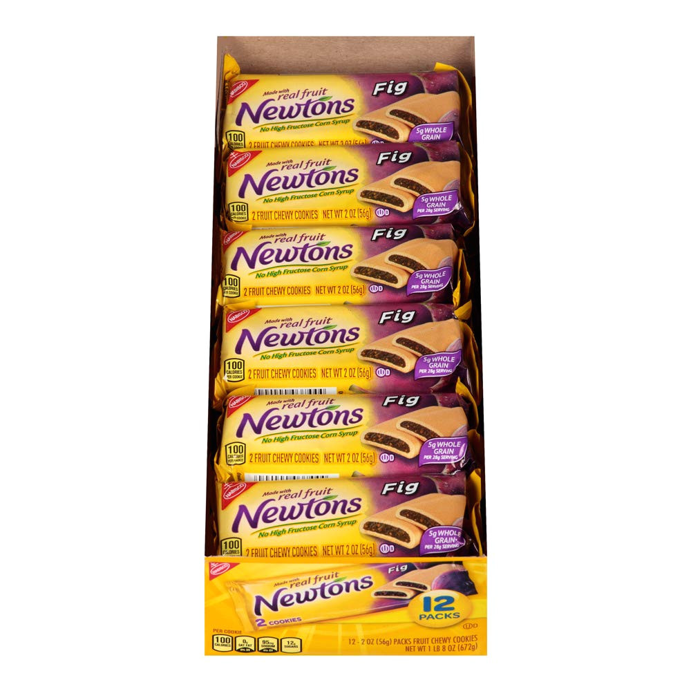 amazon com newtons fig fruit chewy cookies snack packs 12 count box 24 ounce pack of 4