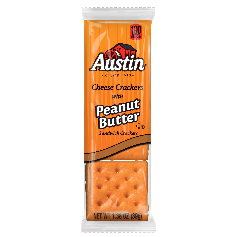 austin sandwich crackers cheese crackers w peanut butter value pack 37 2 oz 27 ct walmart com
