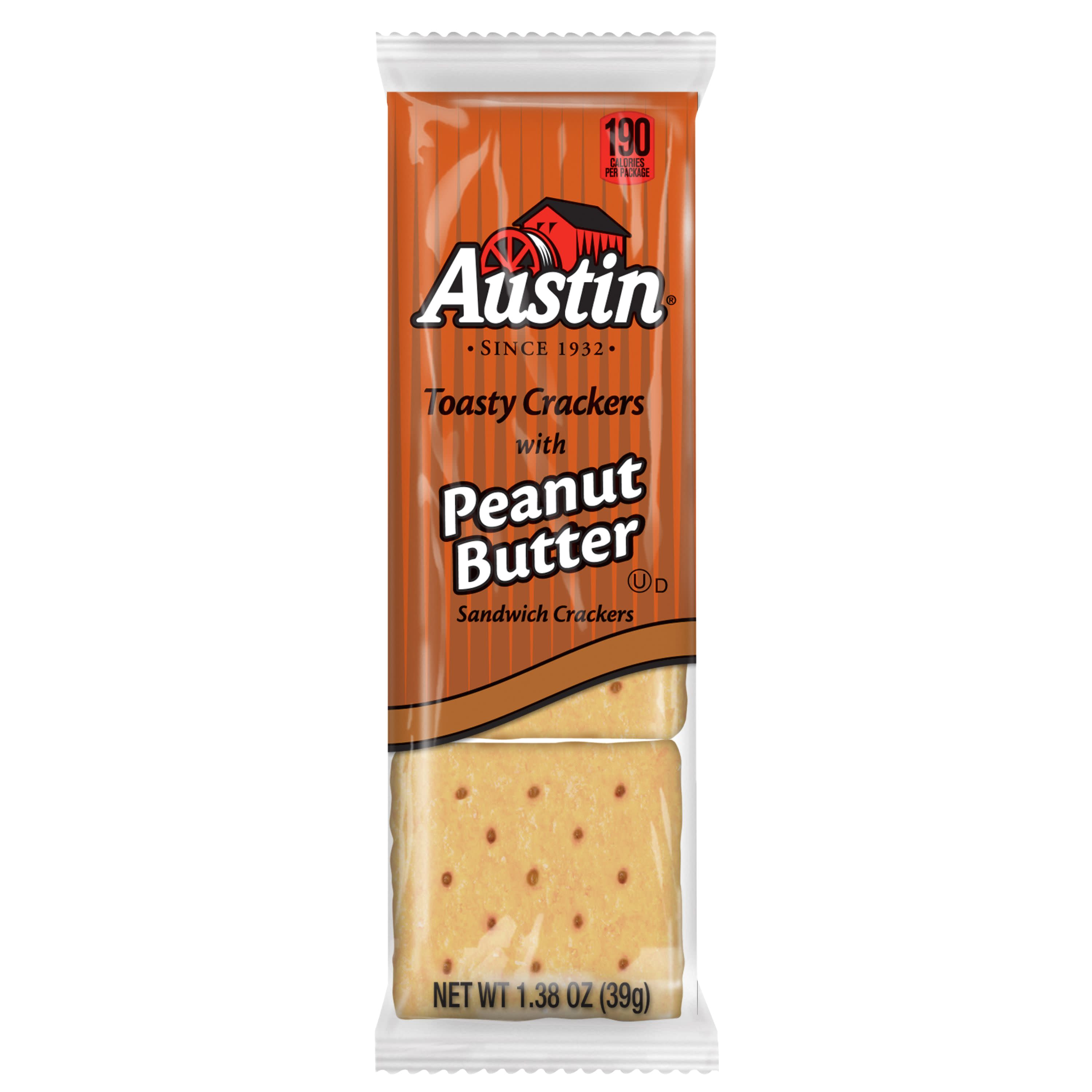 austin sandwich crackers toasty crackers with peanut butter value pack 37 2 oz 27 ct walmart com