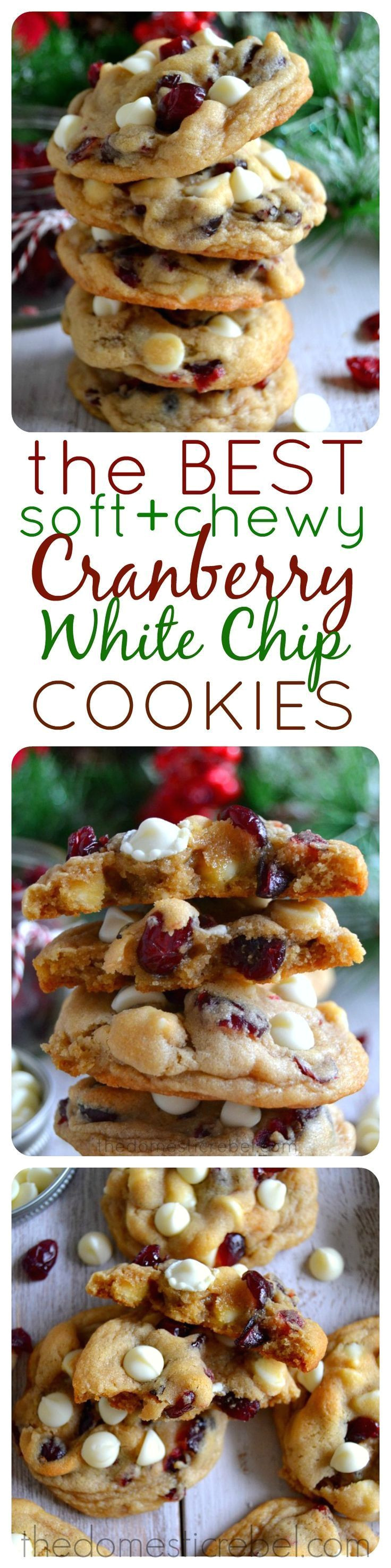 the best soft chewy cranberry white chip cookies tart bright cranberries and sweet