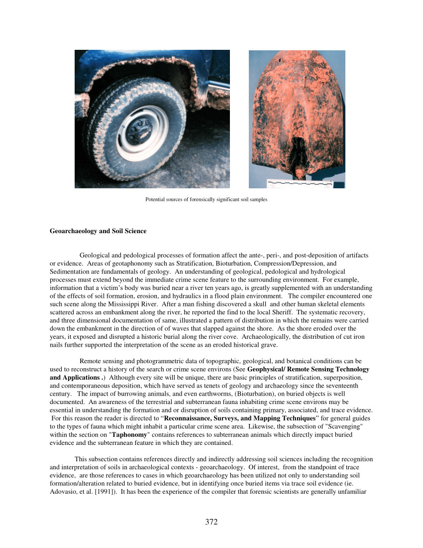 pdf geoarchaeology and soil science in a bibliography related to crime scene interpretation with emphases in forensic geotaphonomic and forensic