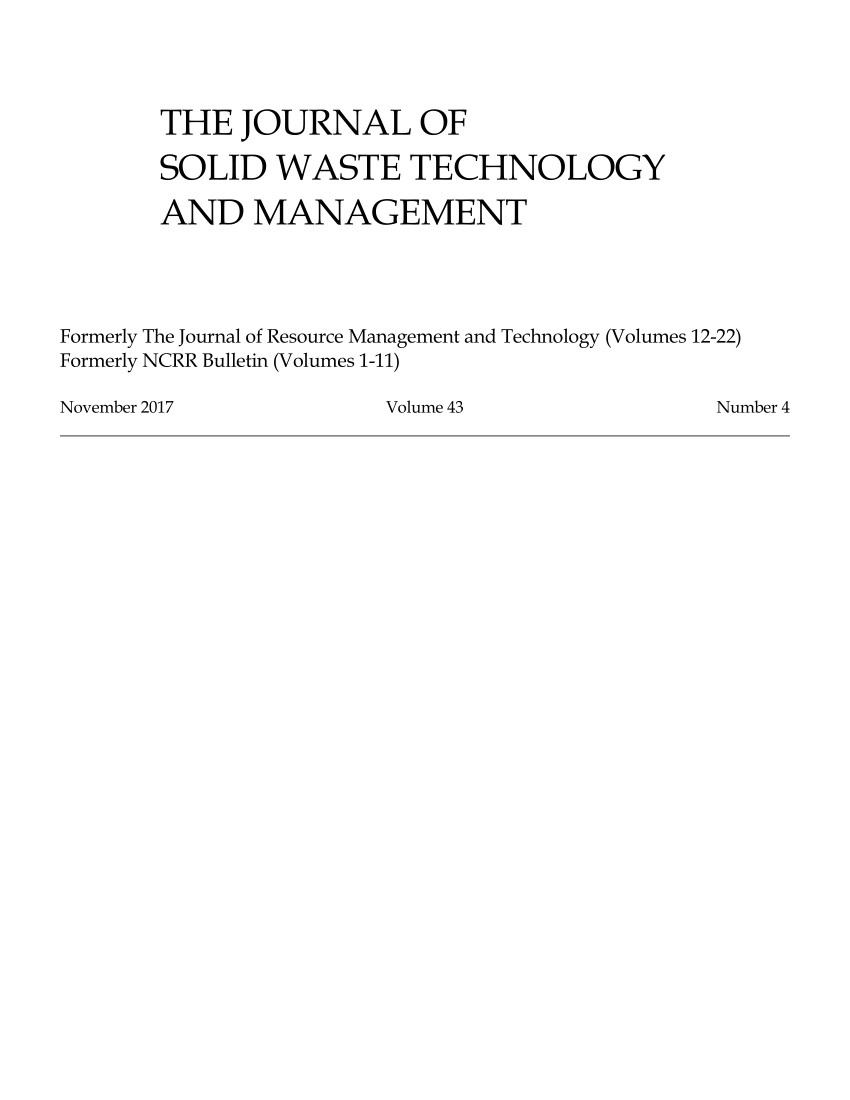 pdf deriving a planting medium from solid waste compost and excavation and demolition rubble