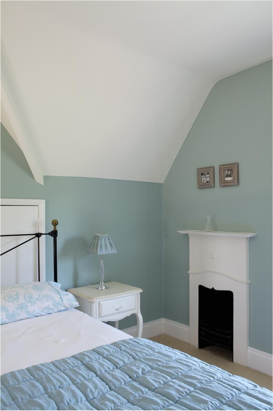 wall color is farrow and ball green blue