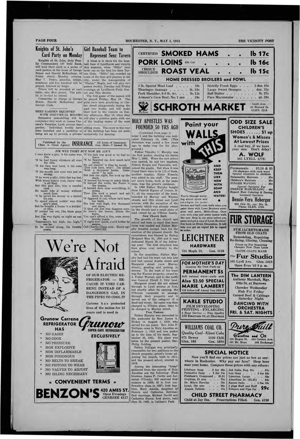 page four rochester n y may 3 1934 the vicinity post knights of st