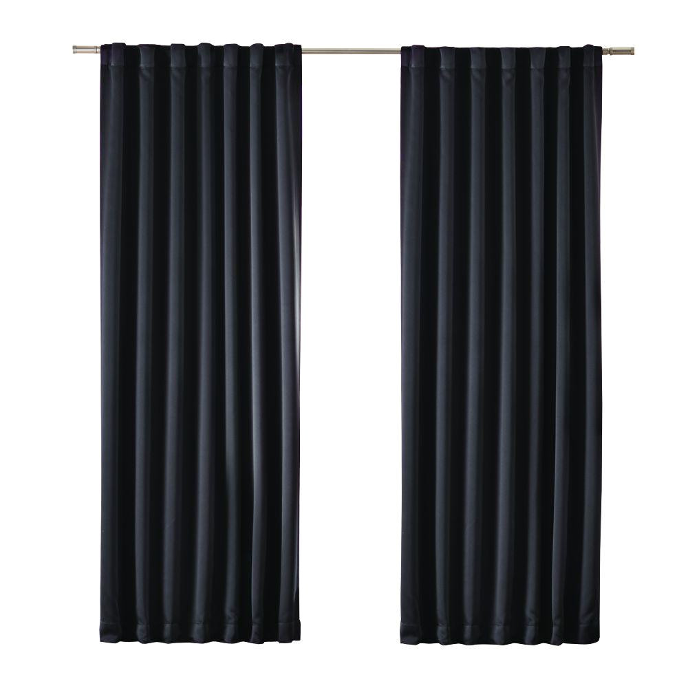 blackout black blackout media rod pocket curtain price varies by size