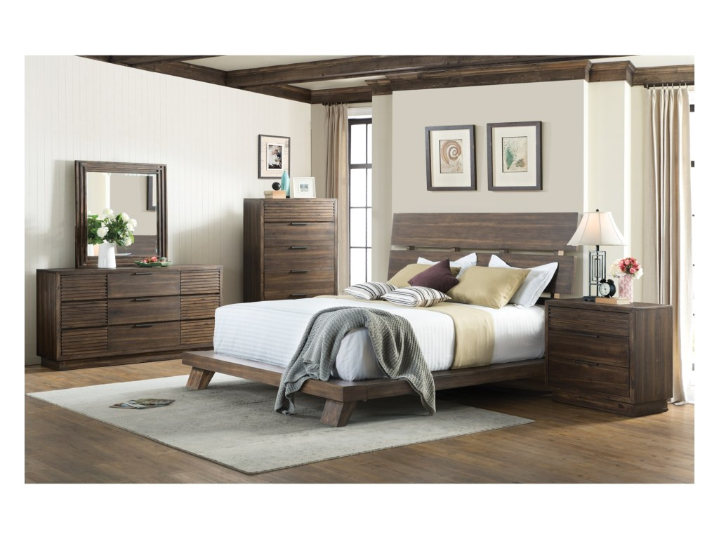 riverside furniture modern gatherings twoking platform bed