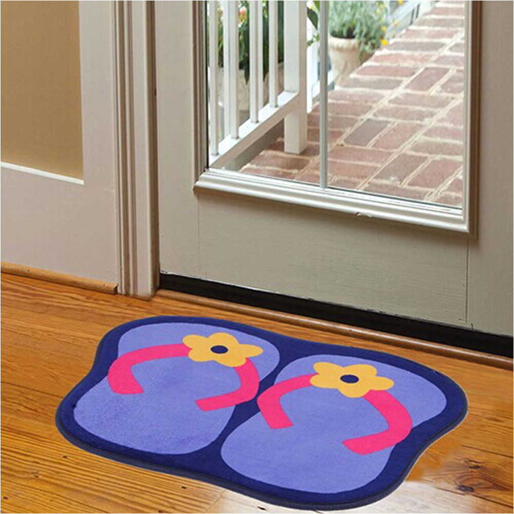 cartoon originality slipper flower pattern non slip doormat blue red pink brown bedroom carpet for home decorator floor rug