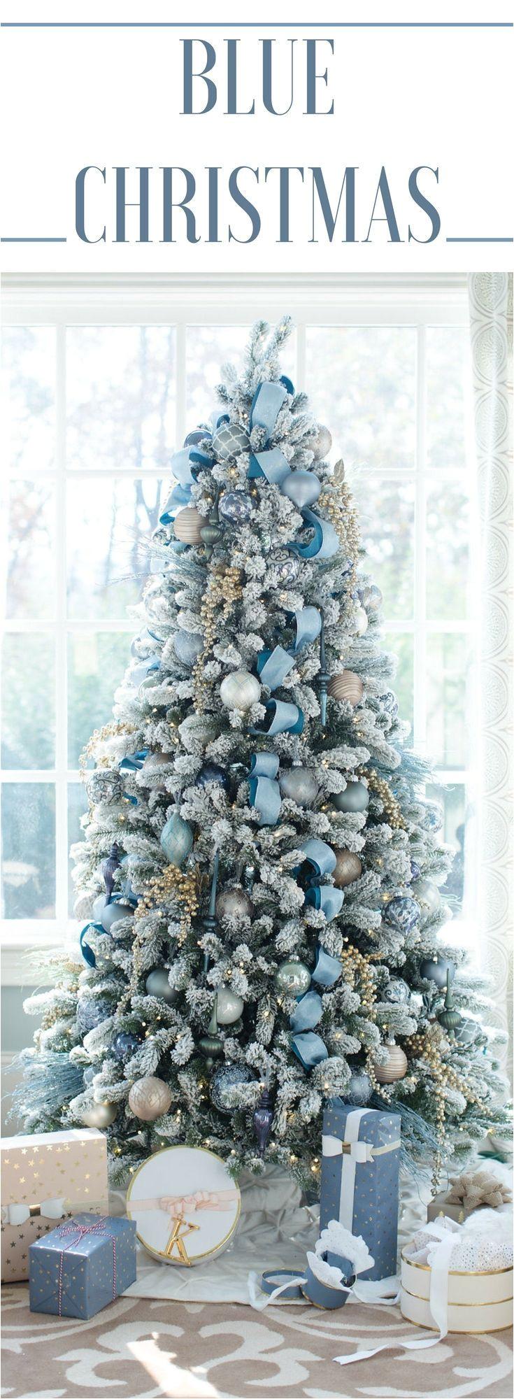 blue christmas decor theme