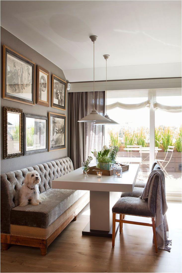 mesa comedor con banco y sillas de terciopelo 00421266