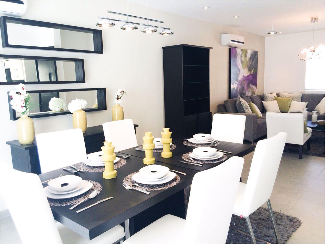 sala comedor moderno contemporaneo colores chocolate blanco verde gris plateado