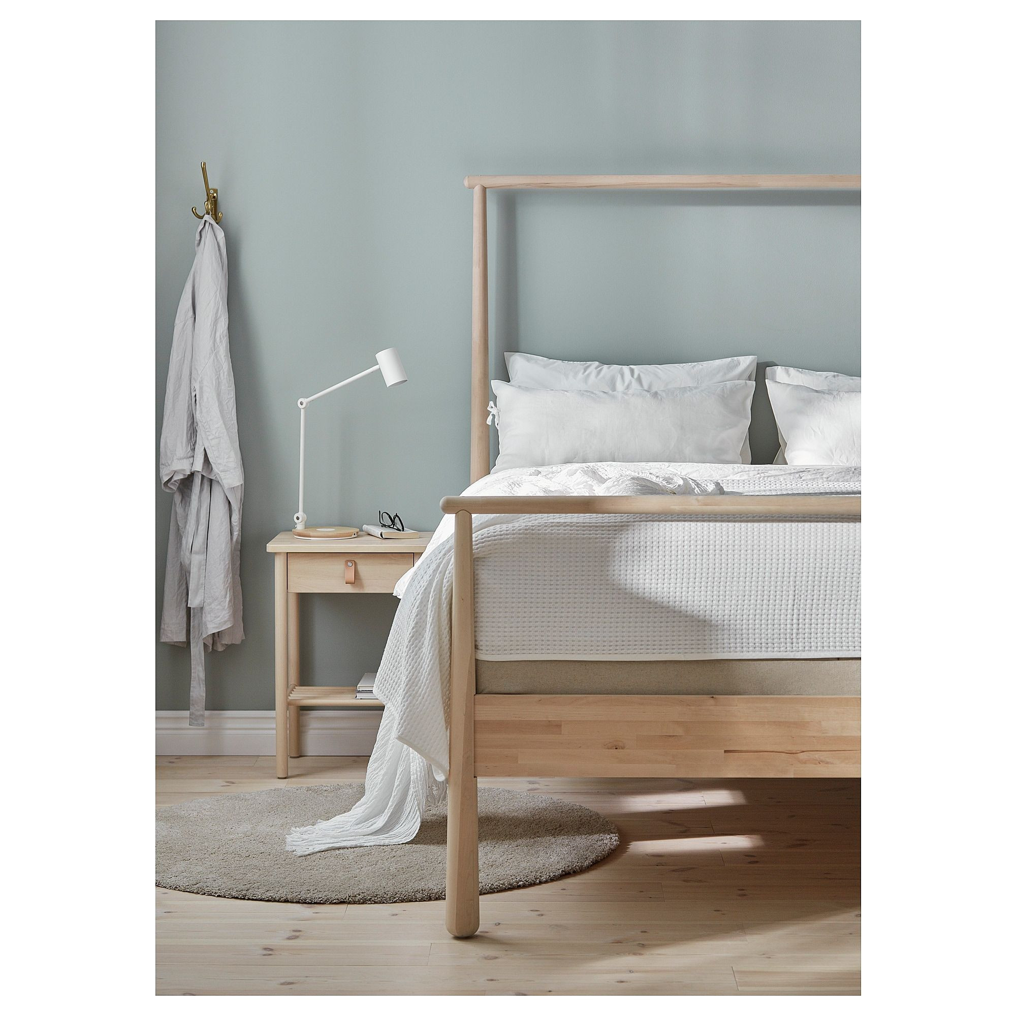 Difference In Slatted Bed Base Ikea Gja Ra Bed Frame Birch Luroy In 2019 for the Home Bed Frame