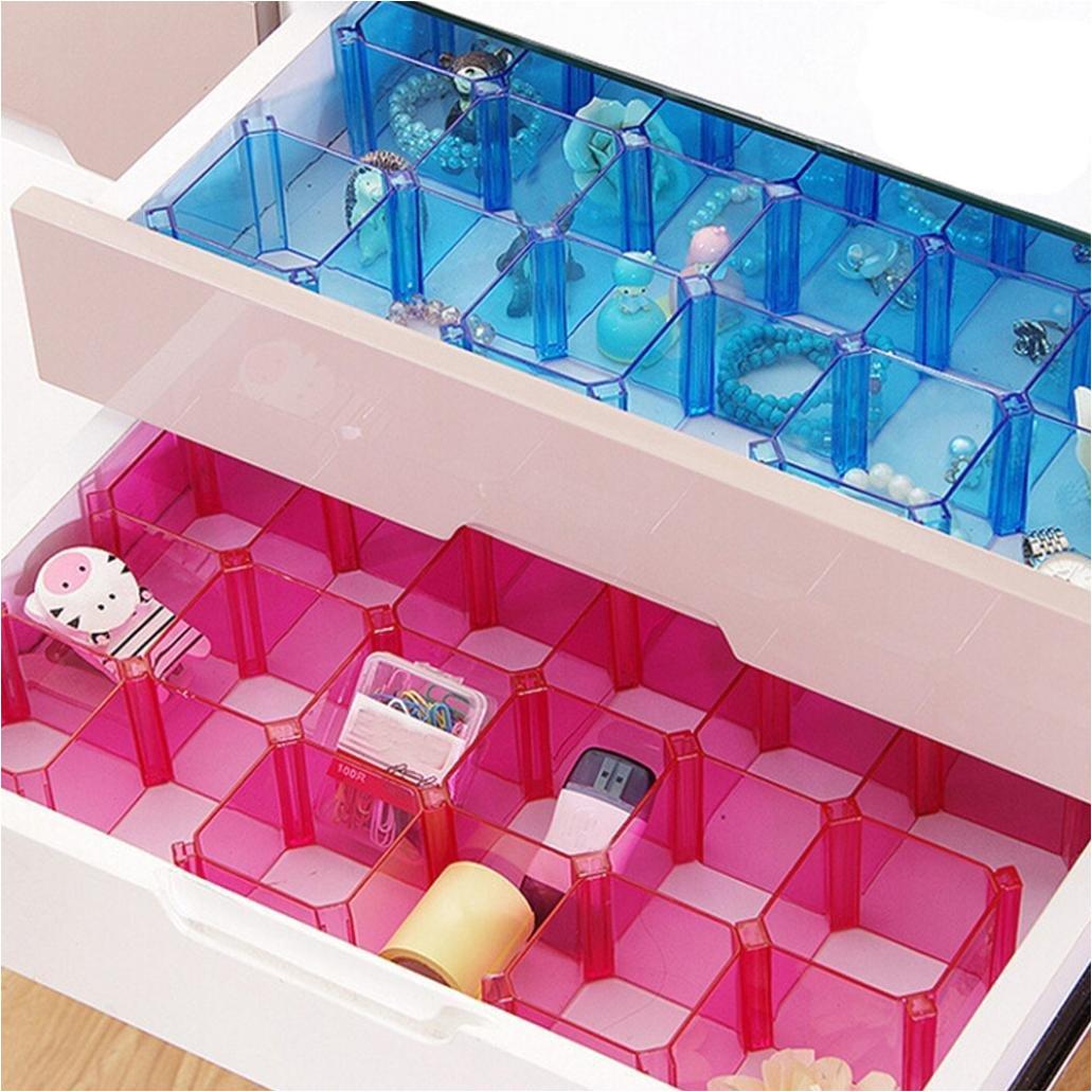 adjustable grid drawer dividers diy plastic closet separator clapboard tidy organizer storage container underwear socks dhl