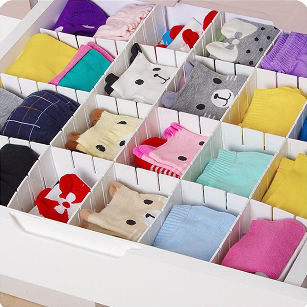 6pcs set adjustable wardrobe drawer divider storage clapboard for ties sock bra underwear organizer cabinet storage dividers in storage boxes bins from