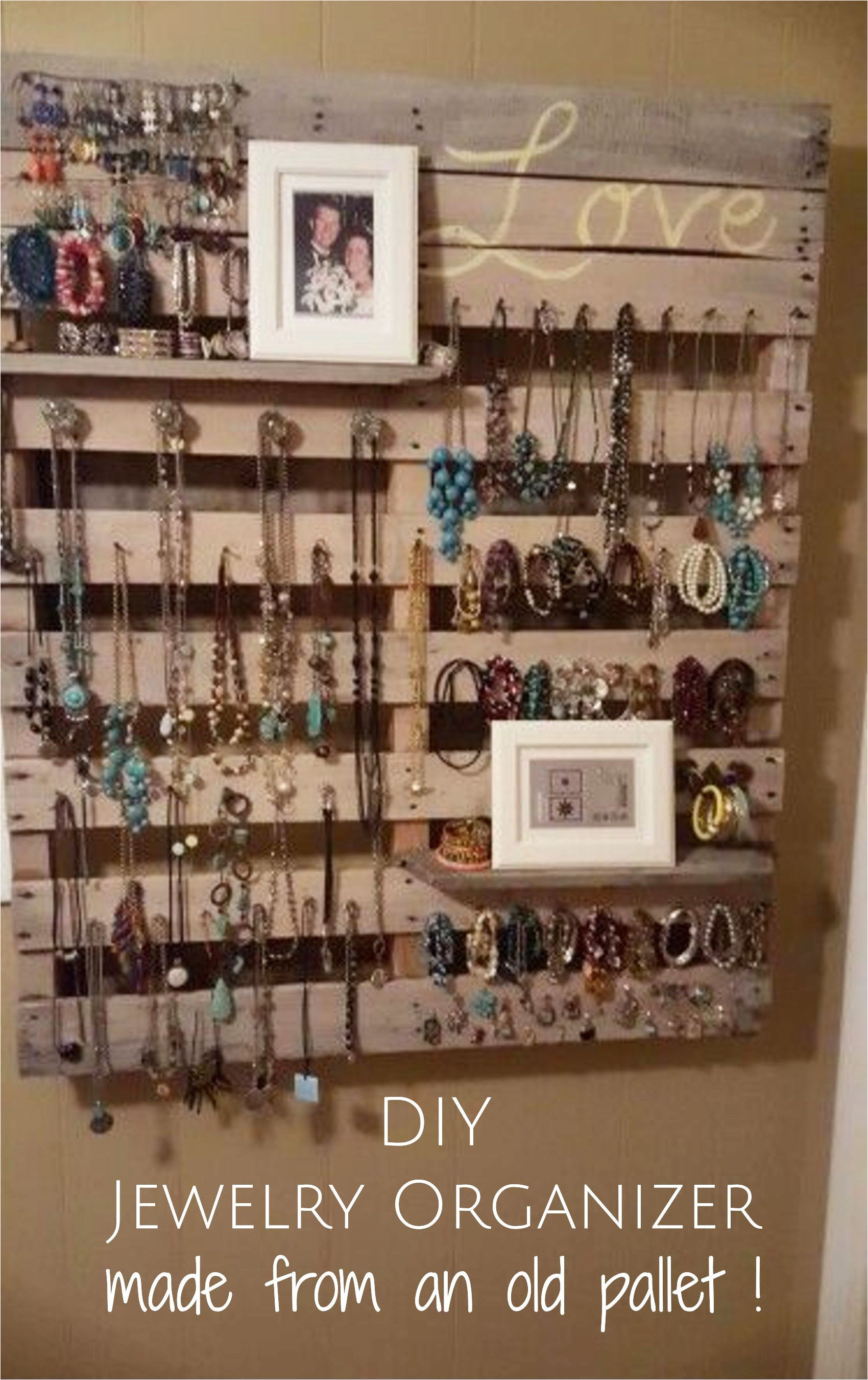 diy jewelry organizer made from an old pallet pallet wood diy projects and ideas to try