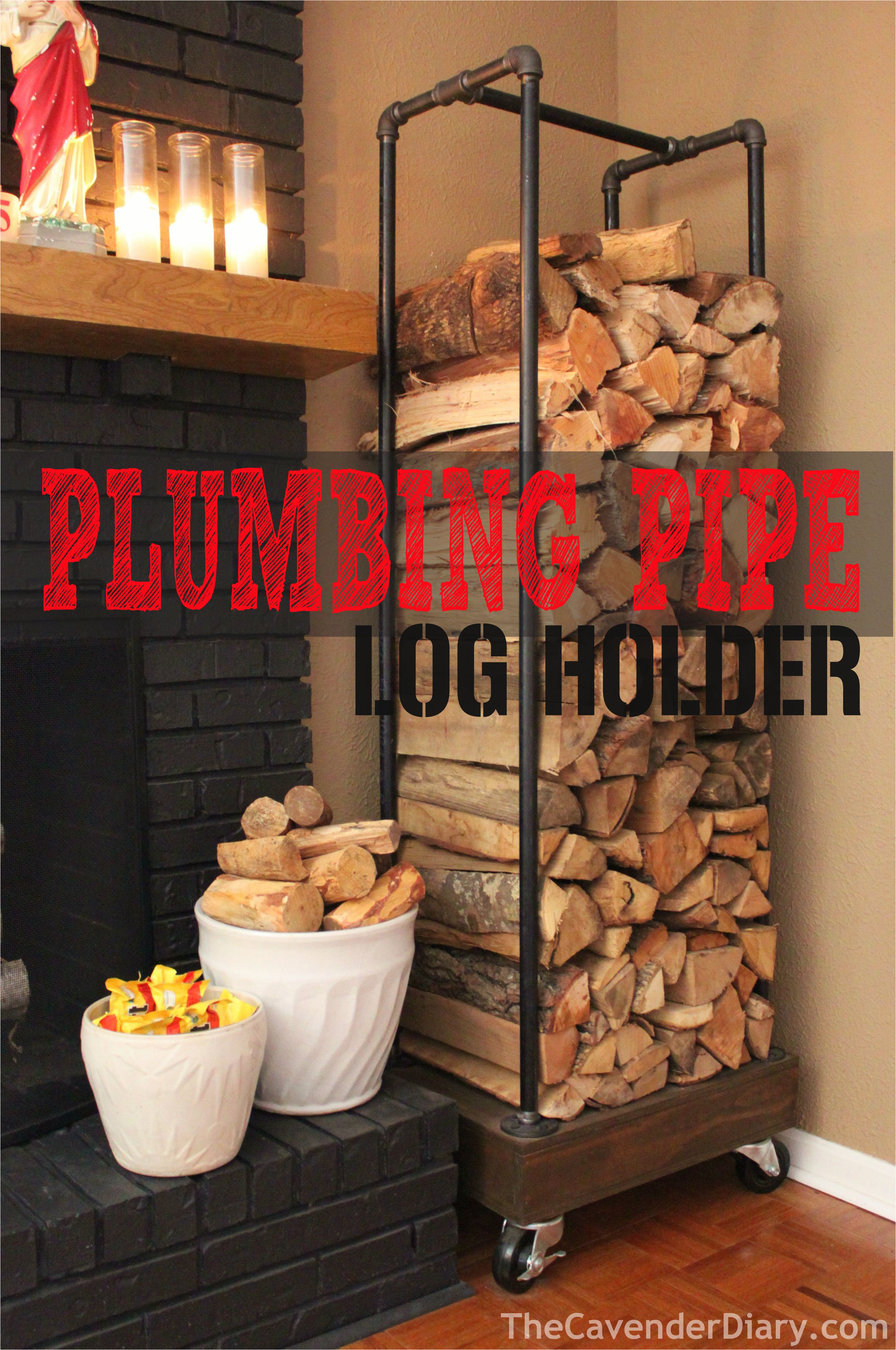 diy rolling log holder made from plumbing pipes thecavenderdiary com