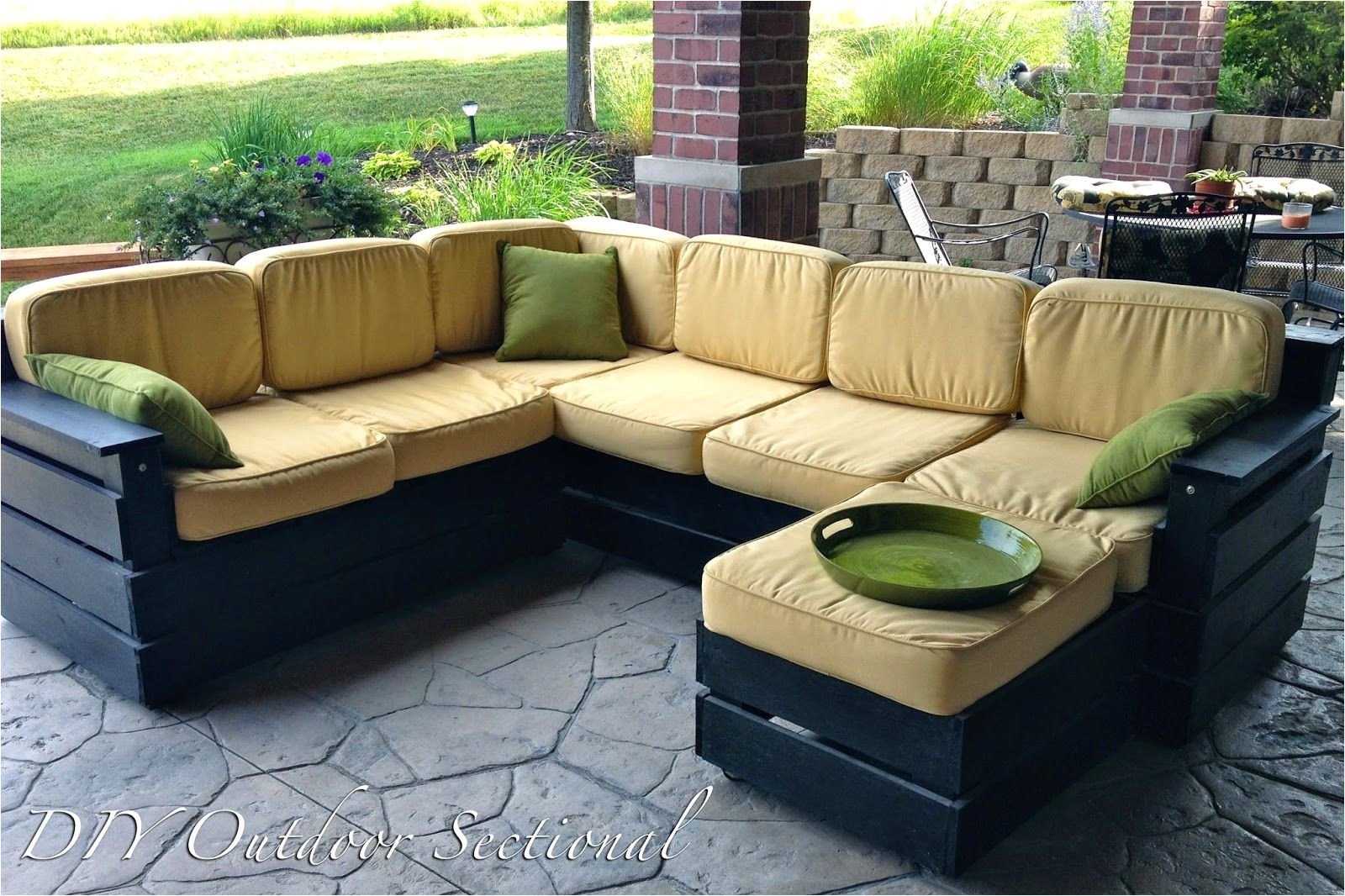diy outdoor sectional build it yourself out of regular wood from a home improvement store