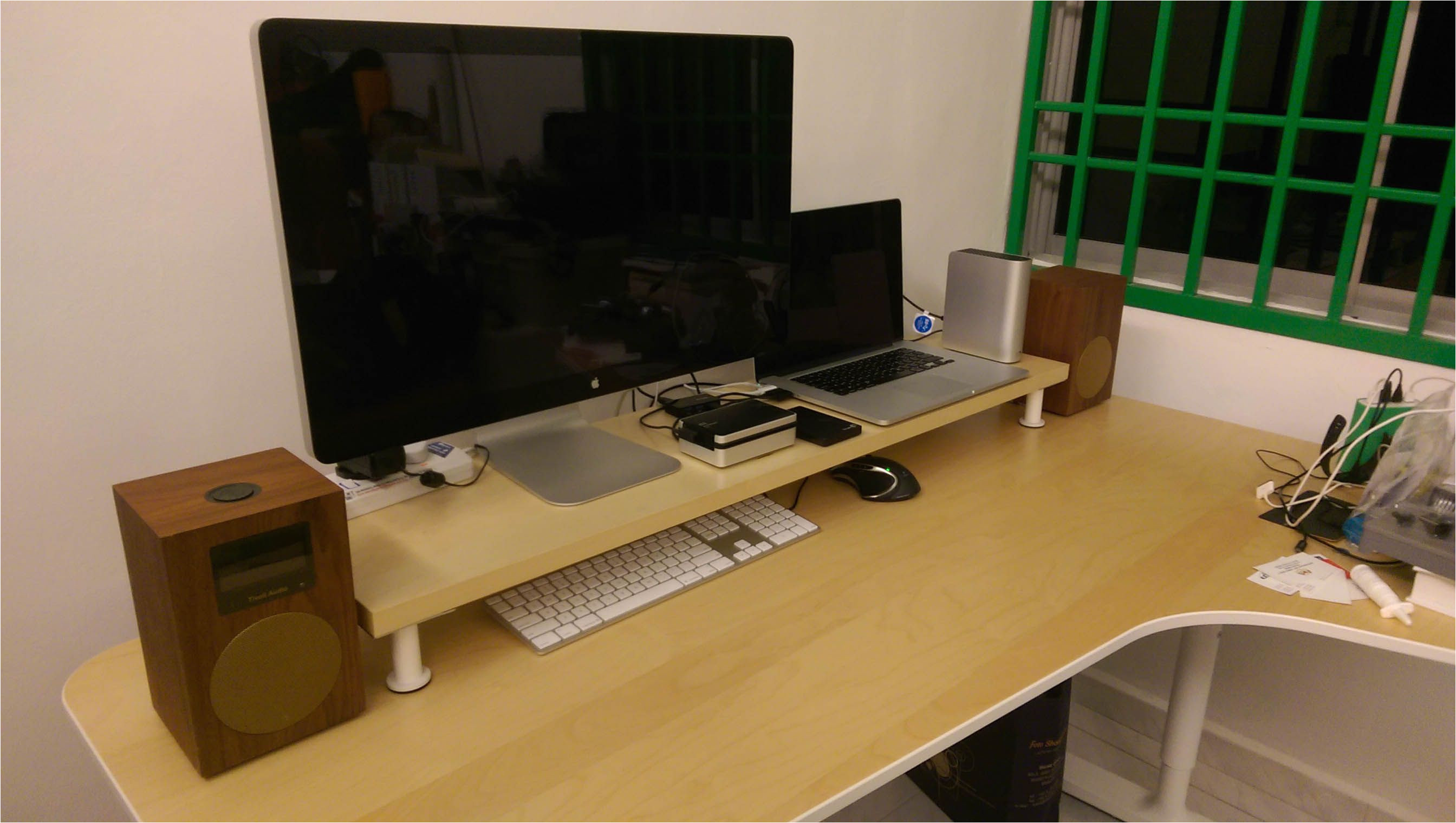 diy ikea desk shelf monitor stand parts 1 x ekby ja rpen 119x28 birch veneer 6 x capita legs 8 9cm white