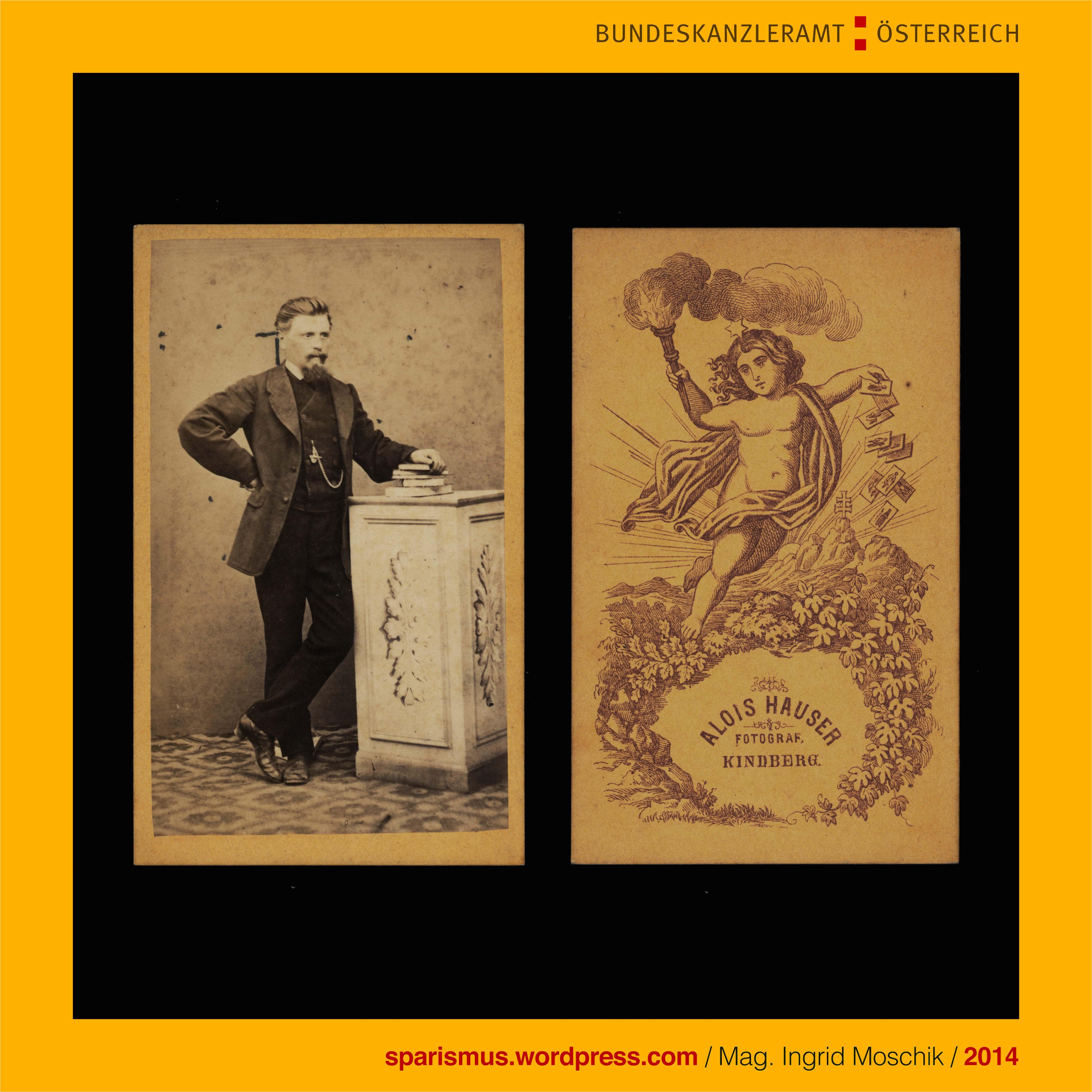 alois hauser als photograph in den 1870ern in kindberg steiermark tatig the austrian