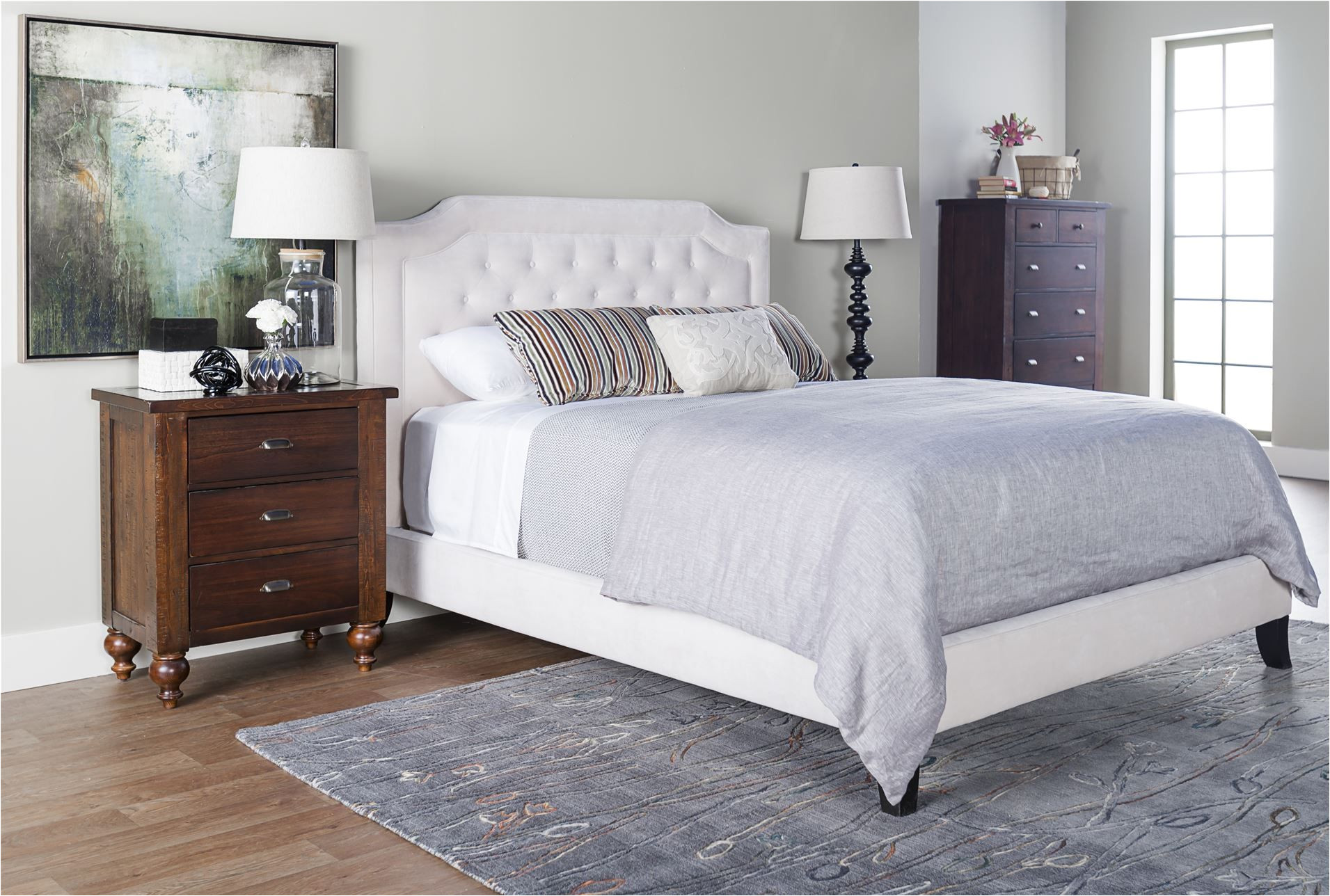 bardot fabric eastern king panel bed want this bed in this color for master bedroom against light gray wall right