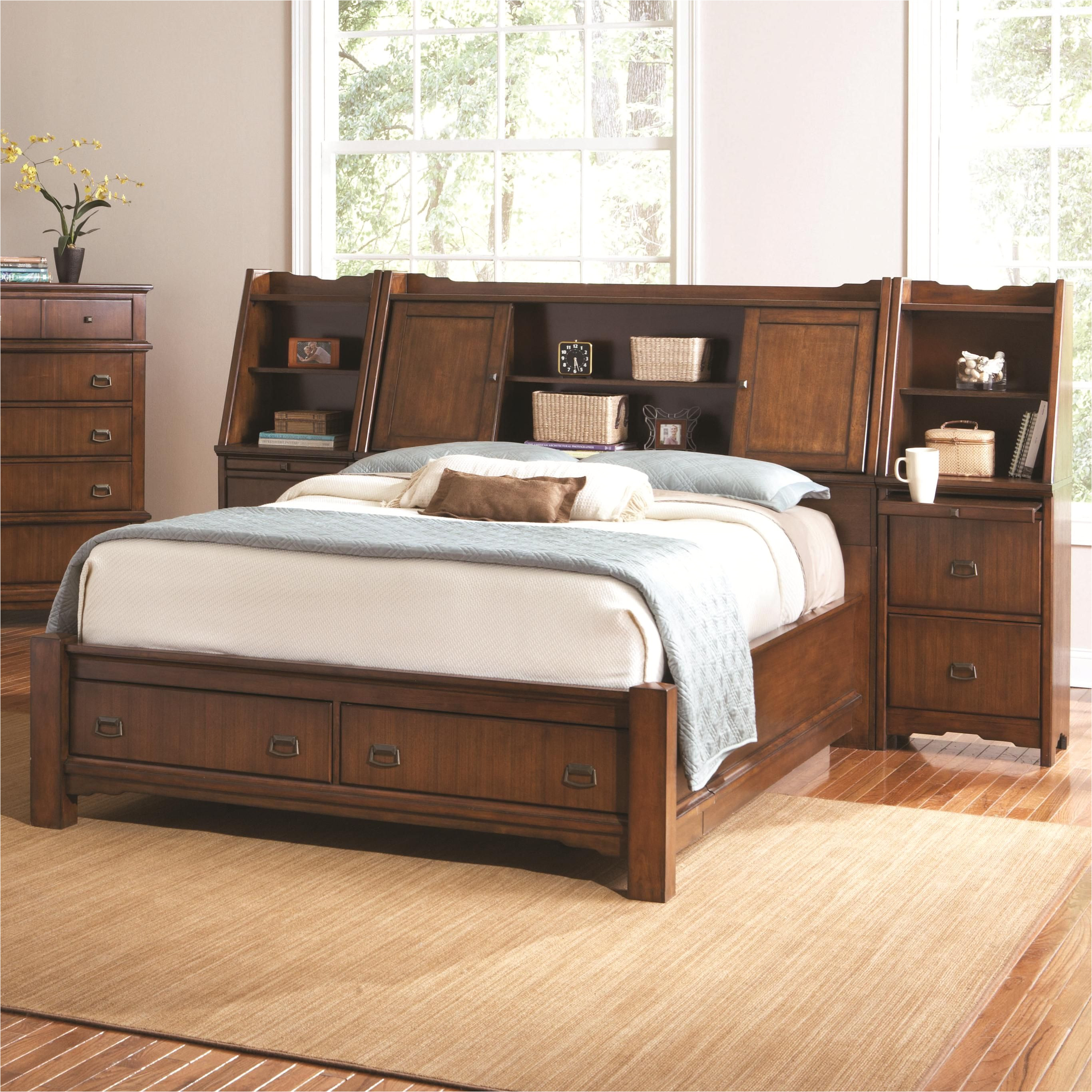 grendel eastern king bookcase bed with footboard storage and hutch headboard by coaster coaster bookcase bed