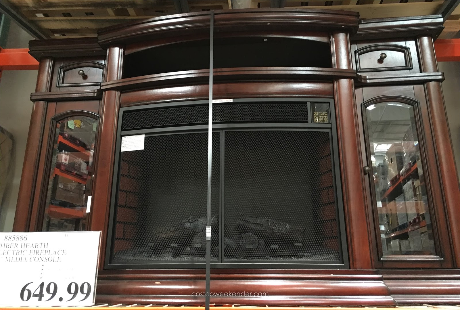 electric fireplace costco amazing ember hearth media weekender within 15